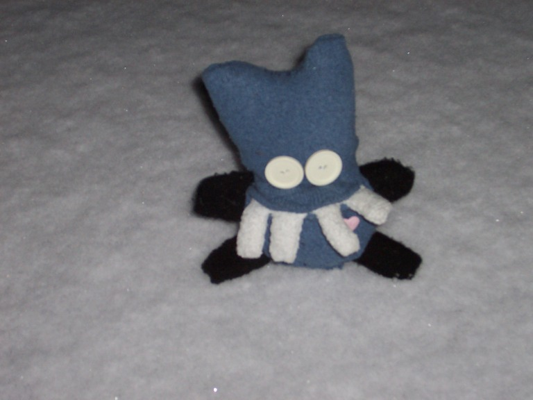 Snow Meets Sock Monster